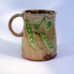 mugs with peas