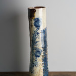 blue and white cylinder